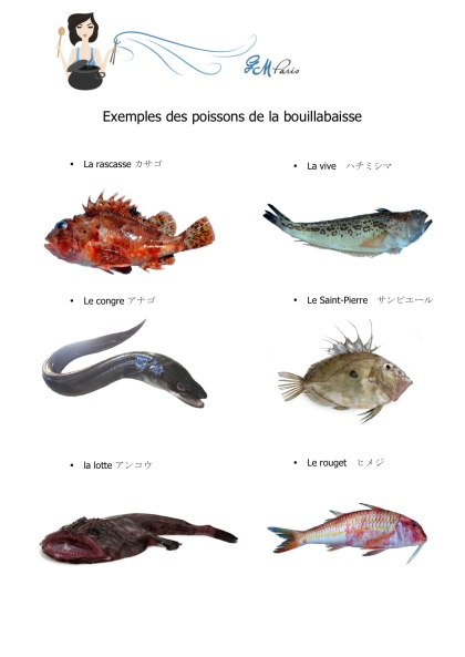 Les poissons de la bouillabaisse
